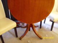 Round Yew Dining Table