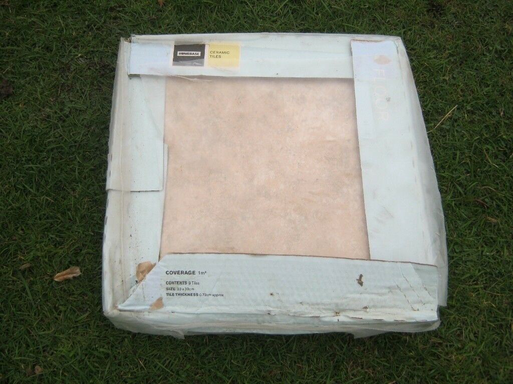11 X Floor Tiles 33cm X 33cm X 72cm Each Bige Wavy Edge New In