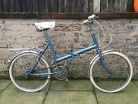 Raleigh Stowaway Folding Vintage Retro Bike White Tyres Brooks Seat 3 Speed Excellent Condition
