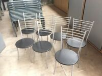 10 X BLACK STACKING OFFICE CHAIRS, MEETING ROOM, CONFERENCE, WAITING, CANTEEN