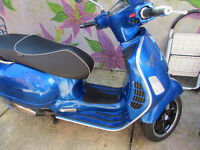 2015 VESPA GTS 125 SUPER ABS BLUE aprx. 1800 miles MOT May of 2018