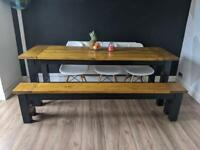 Bespoke table with bench