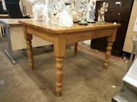 Farmhouse pine large dining table