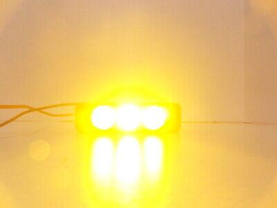 Sho-me 12.5003 Amber Luminator Led Trio 3 Watt Self Flashing Used Inv73