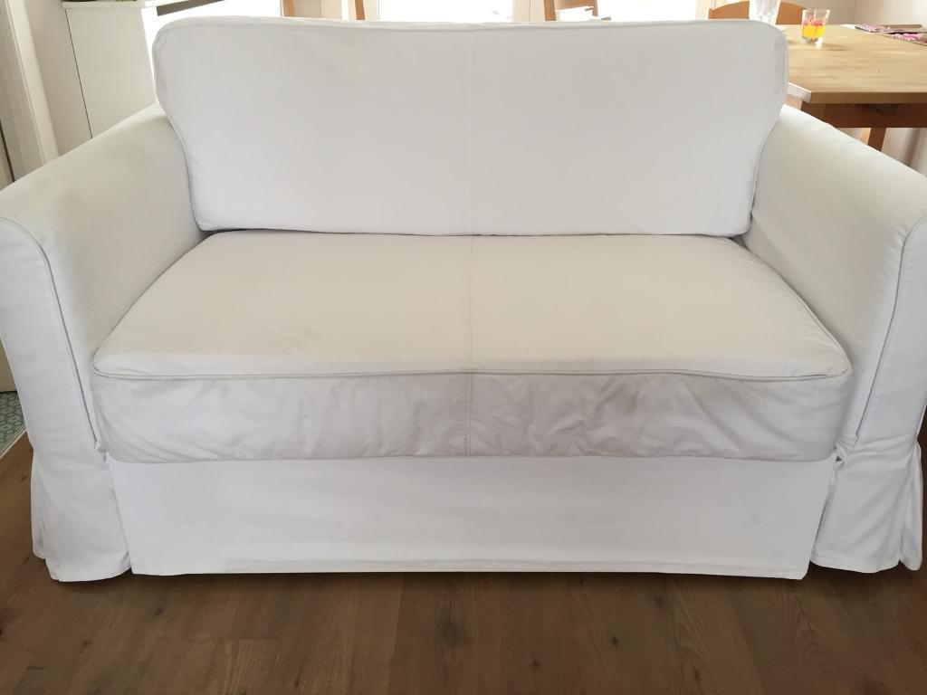 Two Seater Sofa Bed Ikea Hagalund White