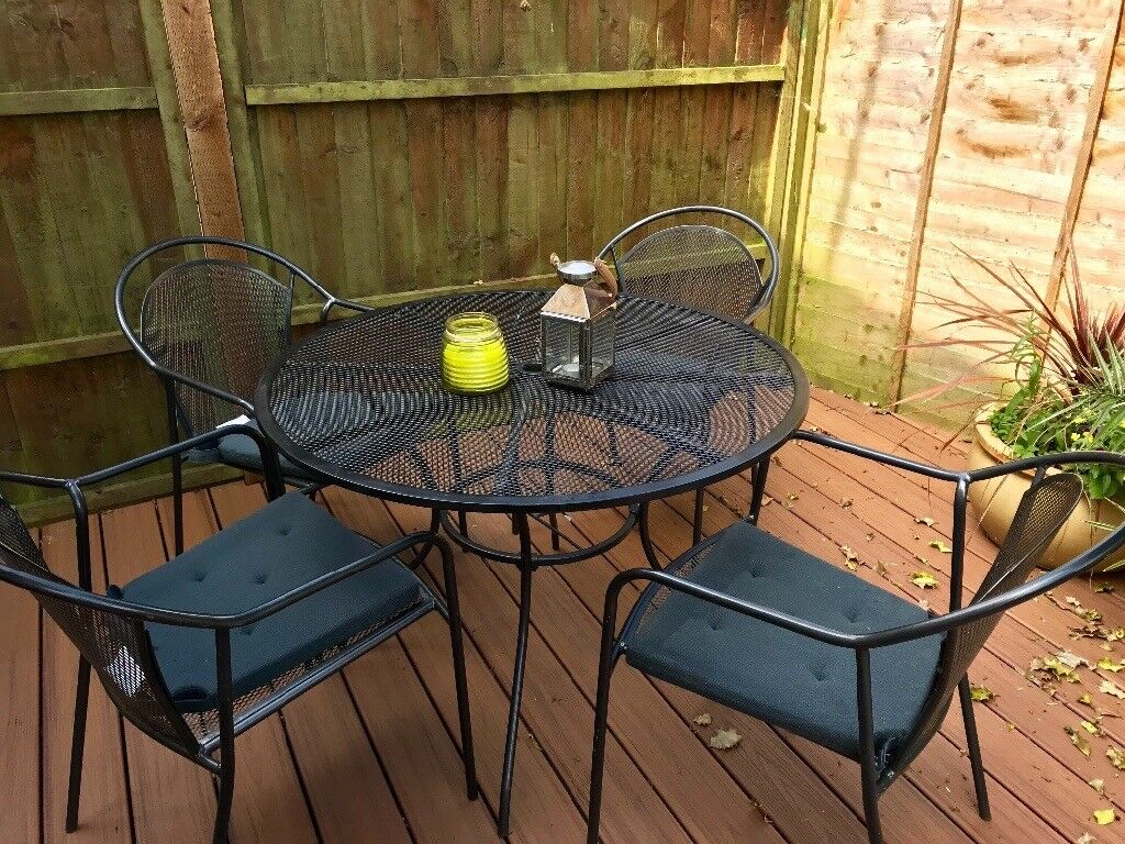Homebase steel garden table and chairs set | in Poole, Dorset | Gumtree