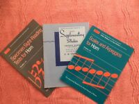 THREE VARIOUS STUDY BOOKS FOR FRENCH HORN