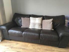 3 Piece Leather Sofa (used)
