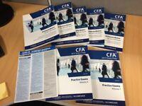 CFA Level 3 Kaplan Schweser 2017 Books, Practice Exams and Quicksheet
