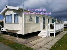 Beautiful 8 berth caravan on Golden Sands, family friendly, close to beach, payment plans accepted.