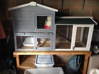 TWO STOREY GUINEA PIG HUTCH WITH STAND