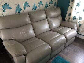 Leather sofa 3 seater x2