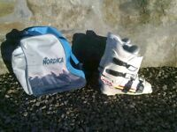 Dachstein Ski Boots UK size 8.5, c/w Nordica boot bag