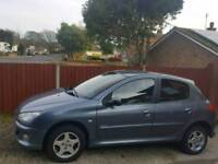 Peugeot 206. 1.4 For Sale. NEW M.O.T.