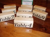 wooden wood menu holders number holder Photo Holder CHRISTMAS X 9 with numbers