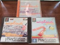 Wipeout, Wipeout 2097 for PS1 plus mega rare Wipeout Cd Soundtrack
