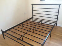 HOME Avalon Double Bed Frame and Airsprung Mattress for Sale . Few months old and barely used