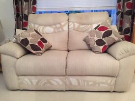 Cream 'Casper ' style sofas - 3 and 2 seaters , selling due to a move, GOING FOR only £ 400!