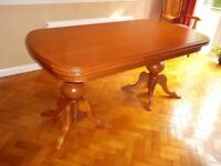 Large dining table and 6 chairs plus Sideboard and Dresser
