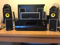 Sound Bar Beating AV Amplifier Sony STR-DH520 1080p HD & 3D 7.1 Surround with Speakers