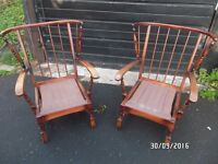 VINTAGE FIRE SIDE CHAIRS APAIR PARKER KNOLL / ERCOL STYLE