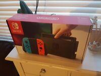 Nintendo Switch BNIB rare neon