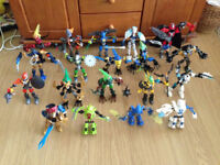 Large Lego Hero factory figures collection with 19 figures