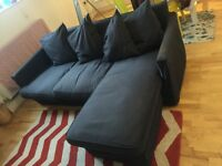 Very good condition dark grey chaise lounge sofa