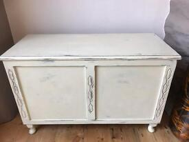 Shabby chic blanket box FREE DELIVERY PLYMOUTH AREA