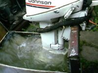 OUTBOARD MOTOR EVINRUDE 15HP LONG SHAFT ON TILLER