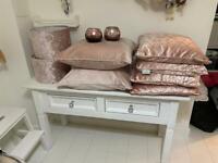 Blush pink bundle - cushions, lampshades and vases