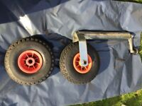 jockey wheel plus spare pneumatic wheel