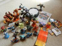 Skylanders Giants Wii game, wireless portal, cards, 26 figures