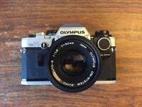 Olympus OM 10 Film Camera with 50mm f1.8 excellent condition