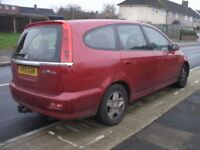 HONDA STREAM 2.0 AUTO 51 REG IDEAL FOR SPARES OR EXPORT