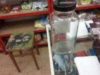 Glass pickling jars.