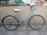 Vintage Silver Singlespeed bike