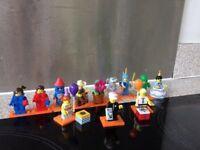 Lego series 18 minifigures including RARE POLICEMAN