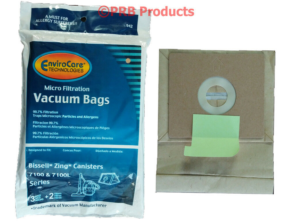 Bissell Zing Bags & Filters #3210 Model 7100 7100L 7100C Tan