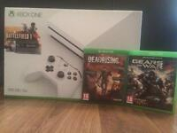 Xbox one S (500GB) boxed with 2 games.