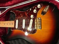 Fender Deluxe Series Stratocaster + Hiscox hard case