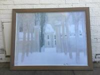 Andre Brasilier 'loupeigne sous la neige' print with frame