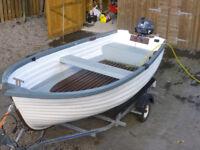 13 Foot Boat + Almost new 4 stroke Yamaha 5hp Long Shaft