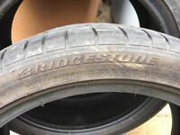 Bridgestone 225 40 18 potenza part worn tyres