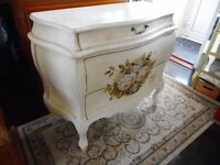 curvy rose chest of three drawers