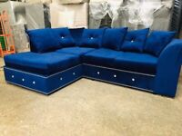 Stunning DYLAN L-Shape Corner Sofa & 3+2 Set - Exciting Colours Available