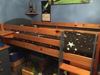 6-Piece Verona Solid Pine Children's Bedroom Furniture Set