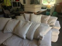 Comfy sofas and footstool **REDUCED TO CLEAR**