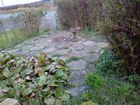 40 paving slabs 50pence shape £17
