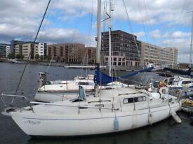 Albin Vega 27 Sailing boat in Gallions Point Marina, London